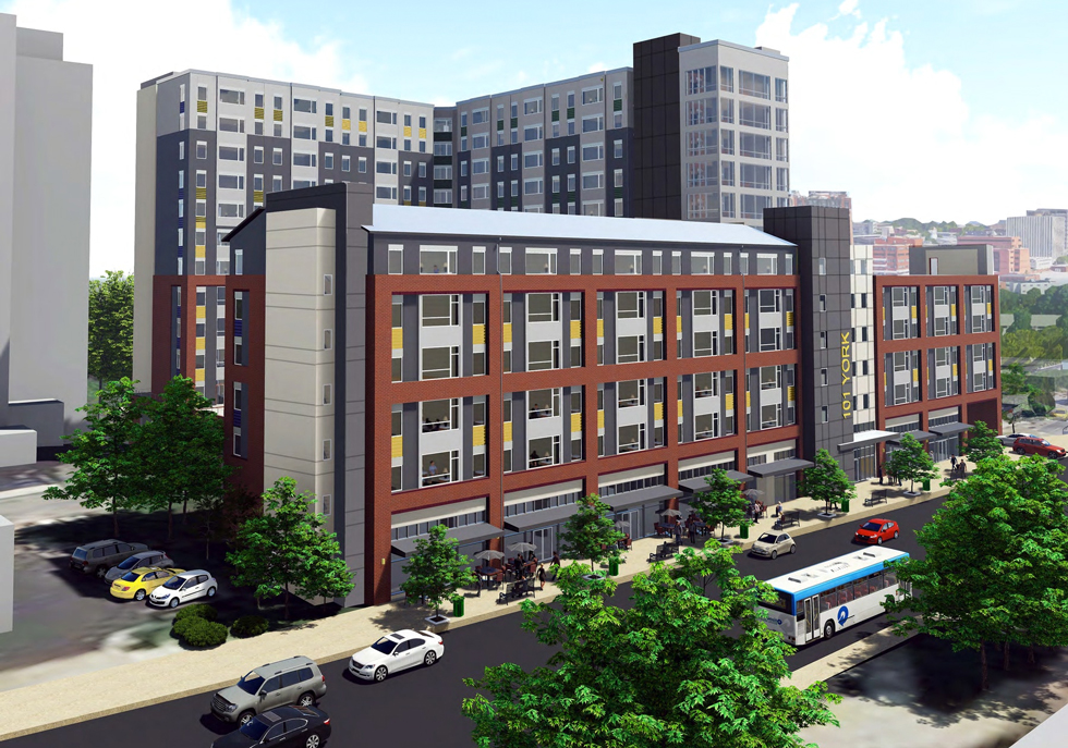 101 YORK - Towson  Apartment Development  - Front View